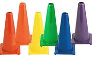 Hi visibility  plastic cone set  fluorescent