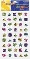 Scrapbookin kids gemstones shapes  peel & stick