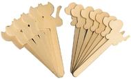 Dog & cat wood craft sticks 16 pcs