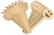 Apple & smiley face wood 16 pcs  craft sticks