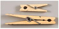 Large spring clothespins natural