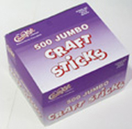 Jumbo craft sticks 500 pieces natrl