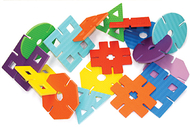 Wonderfoam giant design shapes 7in  w 40 piece set