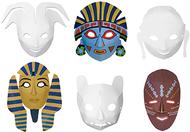 Multi cultural dimensional masks  24pk