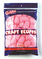 Craft fluffs pink 100 count