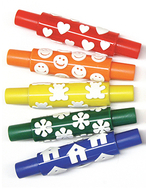 Wonderfoam pattern rollers happy  faces houses hearts teddy bears