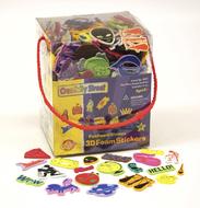 3d foam sticker box whimsical shape  wonderfoam peel & stick