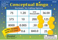 Conceptual bingo decimals
