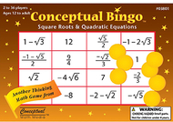 Conceptual bingo square roots &  quadratic equations