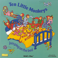 Ten little monkeys jumping on the  bed big book