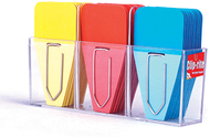 Small solid clip tabs yellow red  blue