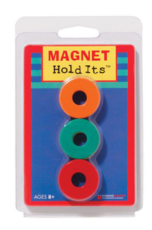 Picture of Six 1 1/8 ceramic ring magnets