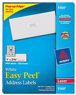 Avery easy peel white address  labels 1x2 5/8 3000ct
