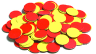 Magnetic two-color counters