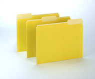 100ct oxford yellow color top file  folders