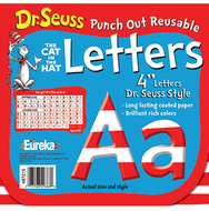 Dr seuss 4 in red & white letters  punch out reusable