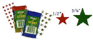 Stickers foil stars 1/2 in 250/pk  assorted
