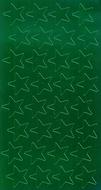 Stickers foil stars 1/2 inch 250/pk  green