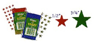 Stickers foil stars 1/2 inch 250/pk  silver