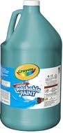 Washable paint gallon turquoise