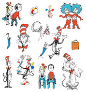 Cat in the hat characters 2 sided  decorating kit
