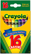 Crayola crayons 16 color peggable
