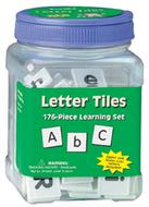 Letter tiles upper & lower 176/pk  1 x 1 black