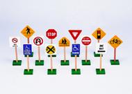 Traffic signs 7in 13/pk