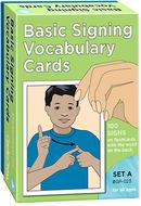 Basic signing vocab cards set a  100/pk 4 x 6