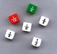 Fraction dice set of 6