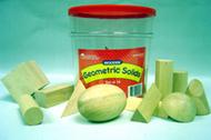 Hardwood geometric solids 12-pk