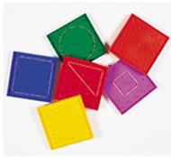 Geoboard double-sided rainbow 6-pk  5 x 5 plastic 5 6 colors