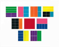 Delx rainbow fraction squares 51/pk