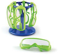 Primary science safety glasses 6  set in a stand