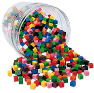 Centimeter cubes 500-pk 10 colors  in storage tub