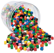 Centimeter cubes 1000-pk 10 colors  in storage tub
