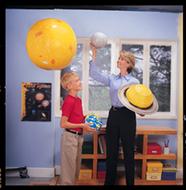 Inflatable solar system  demonstration set