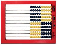 2 color desktop abacus