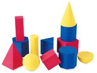 Hands-on soft geometric 12/pk  shapes 2-3 3 colors