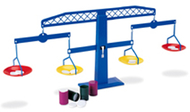 Four-pan algebra balance 4-pk 4  plastic pans canisters weights