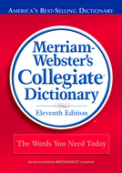 Merriam websters collegiate  dictionary 11th ed laminated