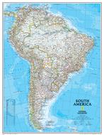 South america wall map 24 x 30