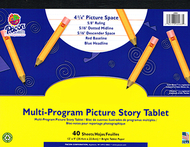 Picture story paper 40 sht 12x9 1/2  in rulelong