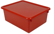 Stowaway red letter box with lid  13 x 10-1/2 x 5
