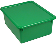 Stowaway green letter box with lid  13 x 10-1/2 x 5