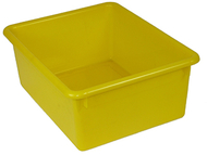 5in stowaway letter box yellow no  lid 13 x 10-1/2 x 5