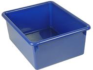 5in stowaway letter box blue no lid  13 x 10-1/2 x 5