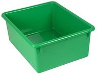 5in stowaway letter box green no  lid 13 x 10-1/2 x 5