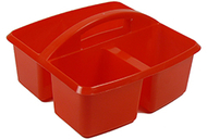 Small utility caddy red