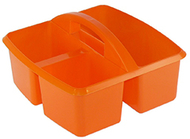 Small utility caddy orange